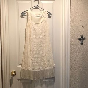 A'reve lace fringe dress, fits like medium